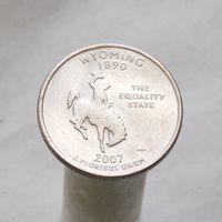 США 25 центов 2007 P Вайоминг