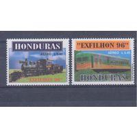 [1667] Гондурас 1996. Поезда,локомотивы.