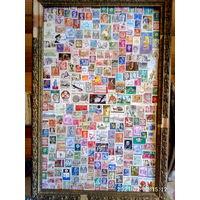 Картина постер из марок  39\59   350 марок мира
