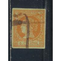 Испания Кор 1860 Изабелла II Стандарт #44