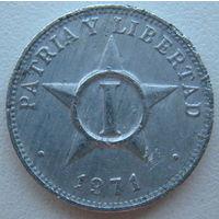 Куба 1 сентаво 1971 г.