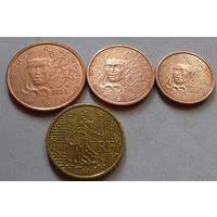 Набор евро монет Франция 2003 г. (1, 2, 5, 10 евроцентов)