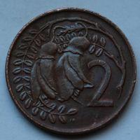 Новая Зеландия, 2 цента 1974 г