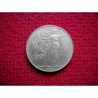 Италия 100 лир 1955 г.