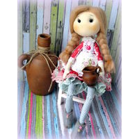 Дарина - мамина помощница. Текстильная кукла ручной работы