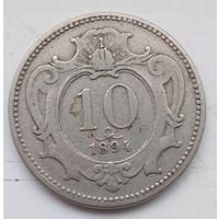 10 геллеров 1894,10 геллеров Австро-Венгрия