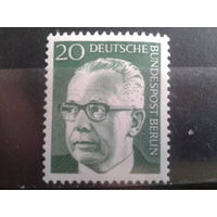 Берлин 1970 Бундеспрезидент Хейнеман** 20пф