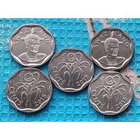 Свазиленд 10 центов. UNC. Инвестируй выгодно в монеты планеты!