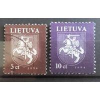 Литва герб страны 2 марочки 1994
