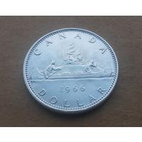 Канада, 1 доллар 1966 г., серебро