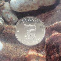 Аландские острова 100 марок 1991г Финляндия.