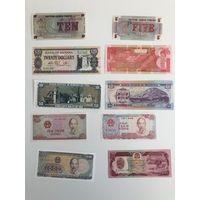Новые банкноты сборник 1 (цена за шт)