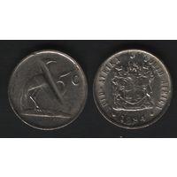 Южная Африка (ЮАР) _km84 5 центов 1984 год (b06)