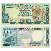 Руанда. 1000 франков (образца 1988 года, P21, UNC)