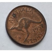 Австралия 1 пенни, 1957 3-13-14