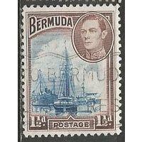 Бермуды. Король Георг VI. Пристань в Гамильтоне. 1938г. Mi#102.
