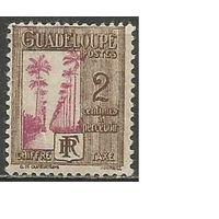 Гваделупа. Пальмовая аллея. Доплатная марка. 1928г. Mi#25.