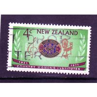 Новая Зеландия. Ми-550. 50 лет национальному женскому институту. Герб. 1971.
