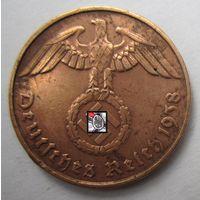Третий рейх. 2 рейхспфеннига 1938 E.  2-130