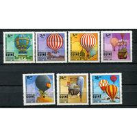 Гвинея-Бисау - 1983 - Воздушные шары - (у марок с номиналами 0,5 и 30 на клее есть отпечатки пальцев) - [Mi. 650-656] - полная серия - 7 марок. MNH.