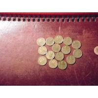 Лот из монет 1 коп. СССР (15 штук)