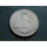 Чехословакия  5 крон 1929 года.