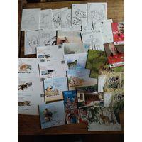 Почтовые карточки Беларусь с рубля без мпц! 95 штук!