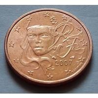 2 евроцента, Франция 2007 г., AU