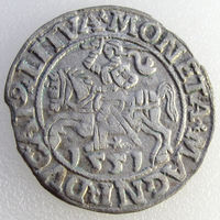 Litva /ВКЛ, полугрош/ 1/2 Grossus 1551 года, Rarity Level: R1, м. дв. Вильня, Kopicki 3243