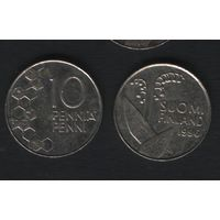 Финляндия km65 10 пенни 1996 год (M) (f36)