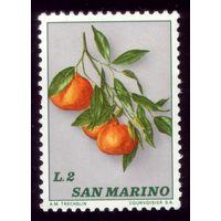 1 марка 1973 год Сан-Марино Мандарин 1032