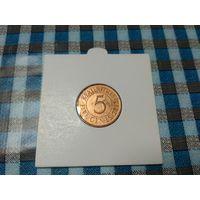 5 центов  2012 года  Маврикия 20-24 в холдере