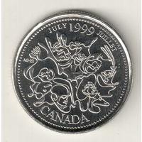 Канада 25 цент 1999 Июль