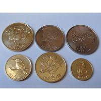 Мозамбик. набор 6 монет 1, 5, 10, 20, 50, 100 метика 1994 год