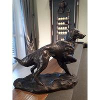 Статуэтка HEREDITIES. Собака. Ирландский сеттер. Из Англии ХХ век. Холодная бронза