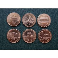 """Набор монет 1 цент США """"200 лет Аврааму Линкольну"""". ОТЛИЧНЫЕ!!!"""