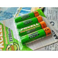 Аккумуляторные батареи -Pkcell- AA 2200 mAh (4 шт. в блистере)