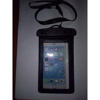 """Универсальный водонепроницаемый чехол для телефона до 6.0"""" черный  ETEKNIC tm"""
