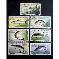 Куба 1971 г. Морские рыбы.  Фауна. полная серия из 7 марок #0055-Ф1