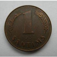 1 сантим 1938 Латвия