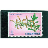 Сингапур.Ми-53. Арахнис (Arachnis maggie oei). Серия: Флора и фауна. 1963.