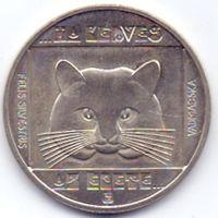 Венгрия, 100 форинтов 1985 года. Животные, дикий кот.