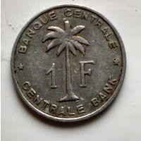 Бельгийское Конго (Руанда-Урунди) 1 франк, 1959  2-2-3