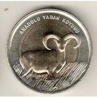 Турция 1 лира 2015 Муфлон