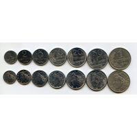 Бразилия НАБОР 7 монет 1969-79 КОРАБЛЬ НЕФТЯНАЯ ВЫШКА