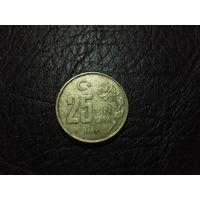 25000 лир 1997г