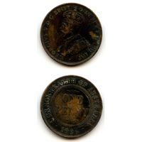 Австралия 1 пенни 1936 г. KM#23 (Последний год чекана (Георг V))