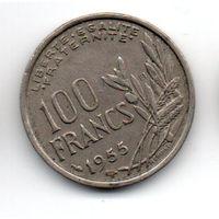 Франция 100 франков 1955 В