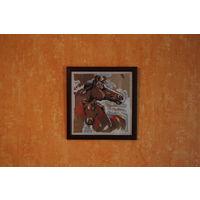 Вышитая картина ''Лошади''
