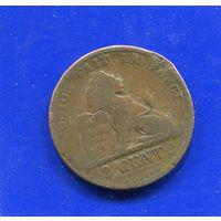 Бельгия 2 сантима 1876 DES BELGES